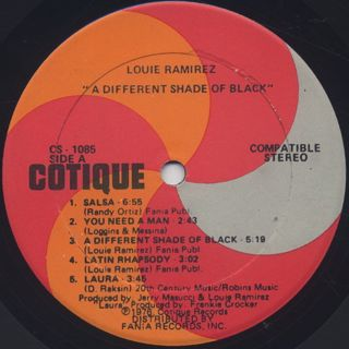 Louie Ramirez / A Different Shade Of Black label