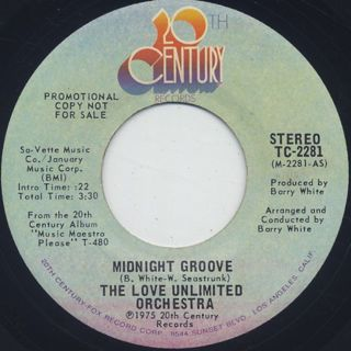 Love Unlimited Orchestra / Midnight Groove front