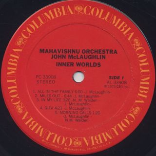 Mahavishnu Orchestra John McLaughlin / Inner Worlds label