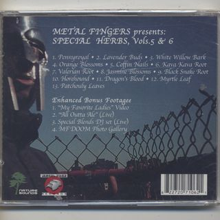 Metal Fingers / Special Herbs Vol. 5 & 6 (CD) back