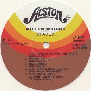 Milton Wright / Spaced label