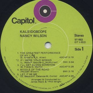 Nancy Wilson / Kaleidoscope label