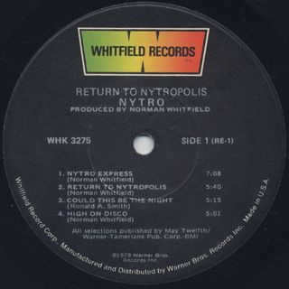 Nytro / Return To Nytropolis label