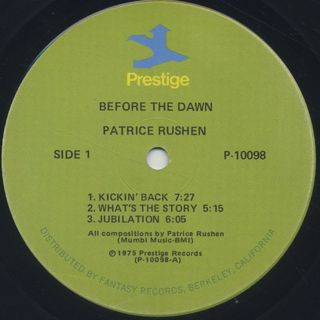 Patrice Rushen / Before The Dawn label