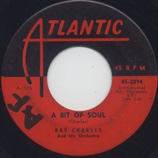 Ray Charles / Early In The Mornin' c/w A Bit Of Soul back