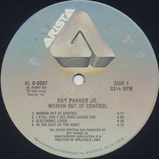 Ray Parker Jr. / Woman Out Of Control label