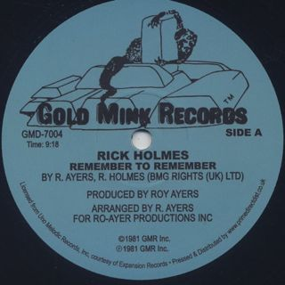 Rick Holmes / Remember To Remember (Re)