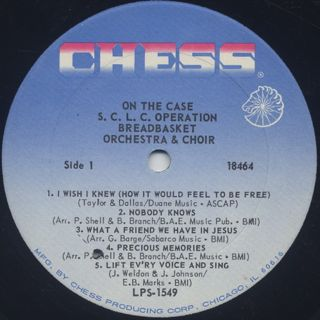SCLC Operation Breadbasket Orchestra And Choir / On The Case label