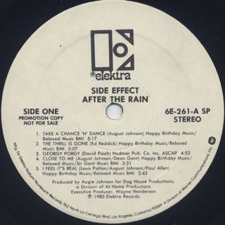 Side Effect / After The Rain label