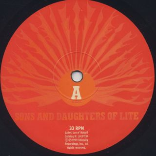 Sons And Daughters Of Lite / Let The Sun Shine In label
