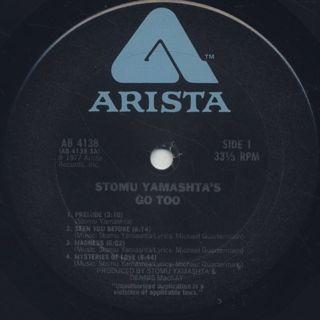 Stomu Yamashta's Go Too / S.T. label