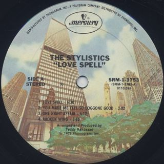 Stylistics / Love Spell label