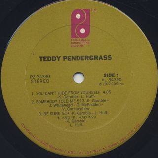 Teddy Pendergrass / S.T. label
