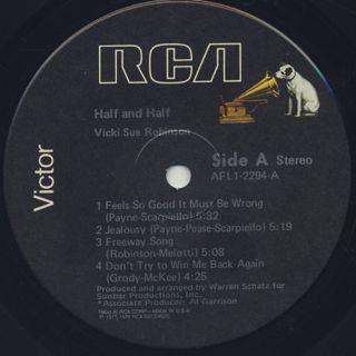 Vicki Sue Robinson / Half And Half label
