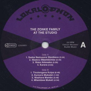 Zonke Family / At The Studio label