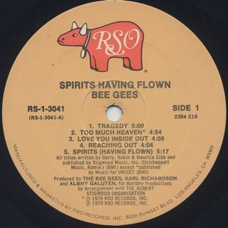 Bee Gees / Spirits Having Flown label
