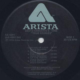 David Sancious & Tone / True Stories label