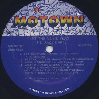Dazz Band / Let The Music Play label