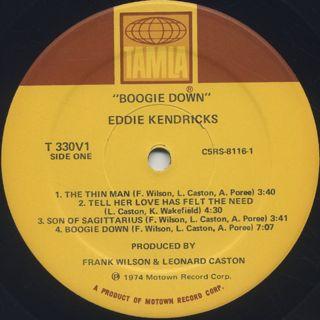 Eddie Kendricks / Boogie Down label
