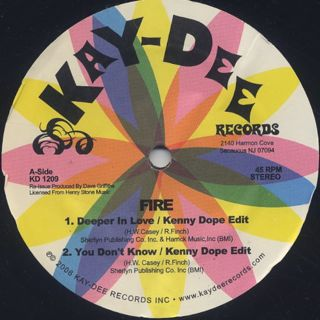 Fire / Deeper In Love c/w Phillip Wright / Keep Her Happy back