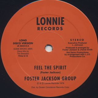 Foster Jackson Group / Feel The Spirit front