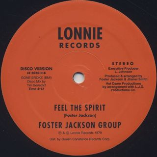 Foster Jackson Group / Feel The Spirit back