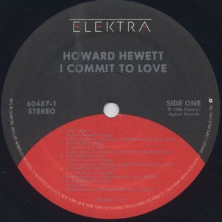 Howard Hewett / I Commit To Love label