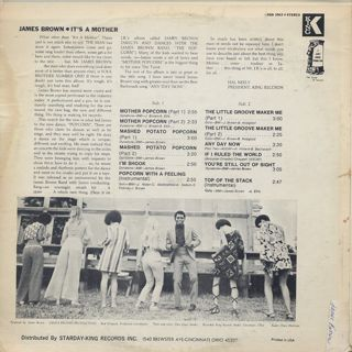 James Brown / It's A Mother back