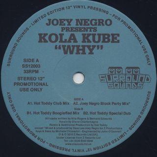 Joey Negro presents Kola Kube / Why