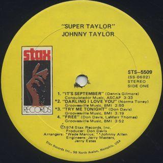 Johnnie Taylor / Super Taylor label