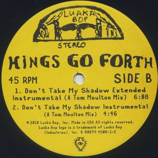 Kings Go Forth / Don't Take My Shadow (Tom Moulton Mixes) label