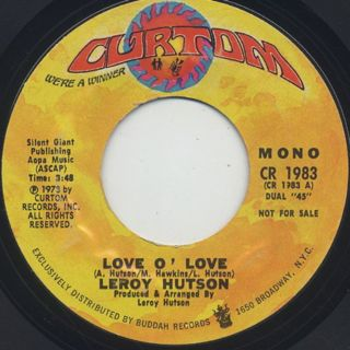 Leroy Hutson / Love O' Love