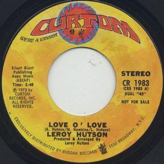 Leroy Hutson / Love O' Love back