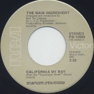 Main Ingredient / California My Way c/w Looks Like Rain
