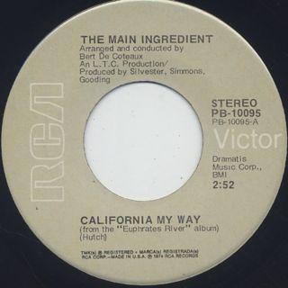 Main Ingredient / California My Way c/w Looks Like Rain