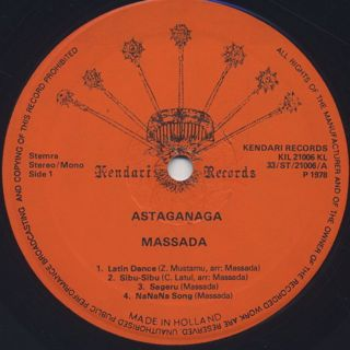 Massada / Astaganaga label