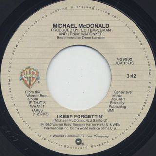 Michael McDonald / I Keep Forgettin' front