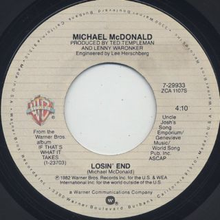 Michael McDonald / I Keep Forgettin' back