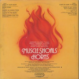 Muscle Shoals Horns / Born To Get Down back
