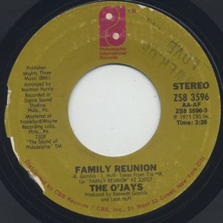 O'Jays / Family Reunion c/w Unity
