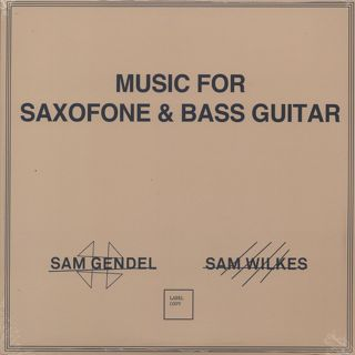 Sam Gendel & Sam Wilkes / Music For Saxofone & Bass Guitar