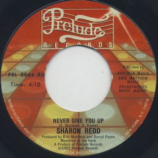 Sharon Redd / In The Name Of Love c/w Never Give You Up back