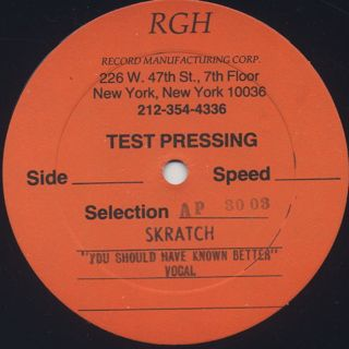 Skratch / You Should Have Known Better