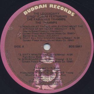 Trammps / The Legendary Zing Album label