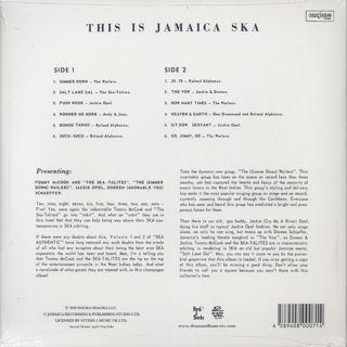 V.A.(Studio One All Stars) / This Is Jamaica Ska Presenting Ska-Talites (LP) back