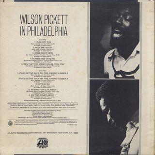 Wilson Pickett / In Philadelphia back