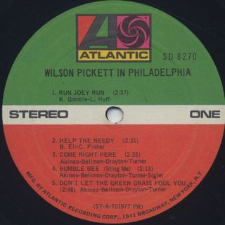 Wilson Pickett / In Philadelphia label