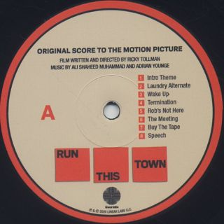 Adrian Younge & Ali Shaheed Muhammad / Run This Town: Original Score (LP) label