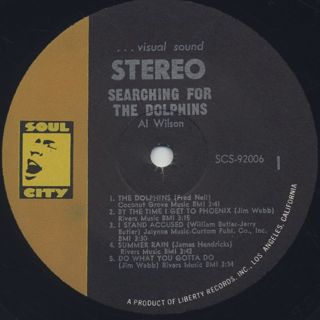 Al Wilson / Searching For The Dolphins label