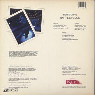 Ben Sidran / On The Live Side back